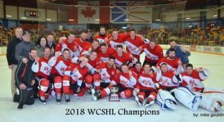 2018 WCSHL CHAMPIONS